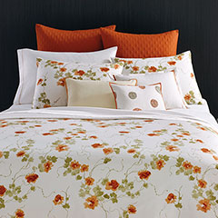 Vera Wang Orange Blossoms Duvet Set
