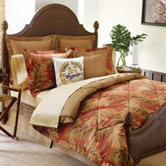 Orange Cay Comforter Set