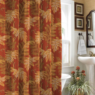 Tommy Bahama Orange Cay Shower Curtain