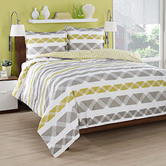 City Loft Origami Stripe Reversible Comforter & Duvet Set