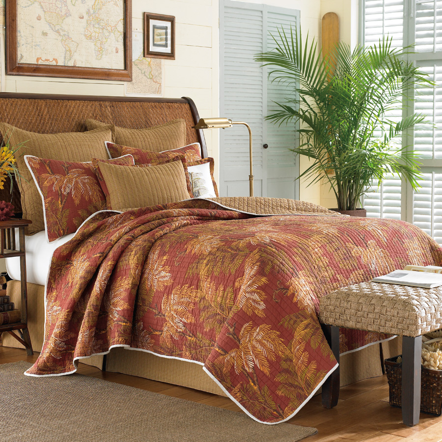 Tommy bahama orange cay quilt collection from Tommy bahama bedding