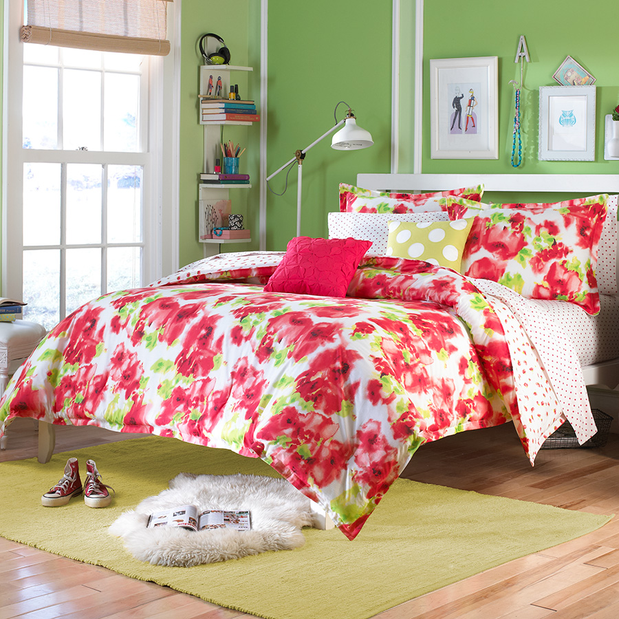 Teen Vogue Painted Poppy Bedding Collection From