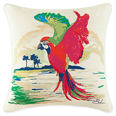 Tommy Bahama Painted Parrot Decorative Pillow