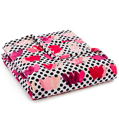 Betsey Johnson Ultra Soft Painted Hearts Throw Blanket