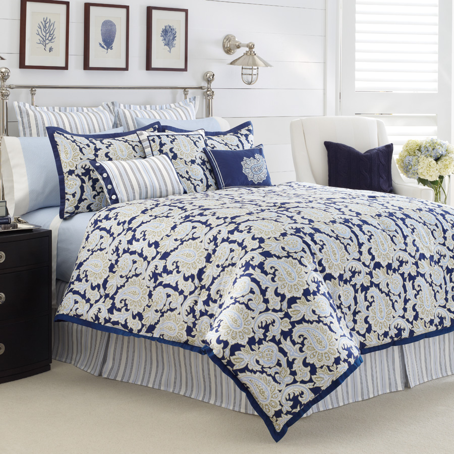 Nautica Palmetto Bay 4pc Queen Comforter Set Nip