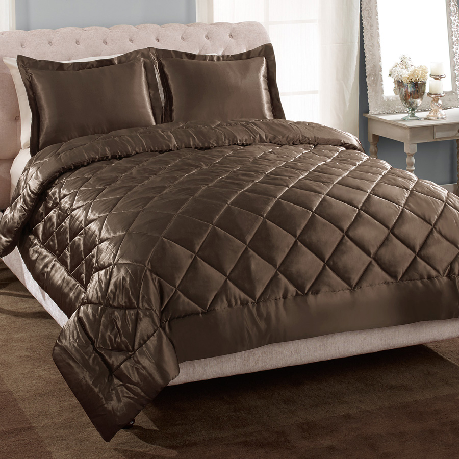 Patti La Belle Coffe Satin Comforter Set From Beddingstyle Com