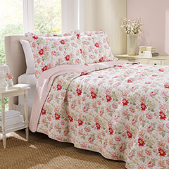 Laura Ashley Peony Garden Rose Quilt Set