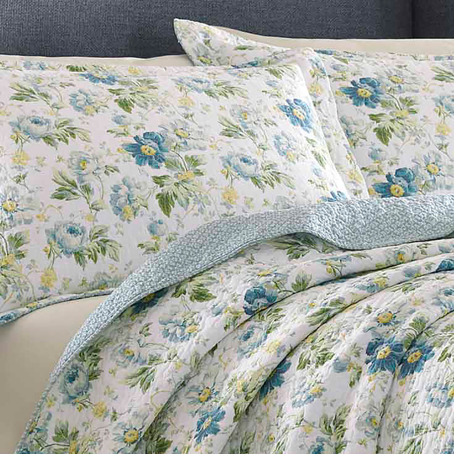 laura ashley peony garden quilt set from. Black Bedroom Furniture Sets. Home Design Ideas
