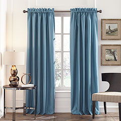 Perry Ellis Blue Stone Blackout Window Drapes