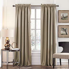 Perry Ellis Latte Blackout Window Drapes