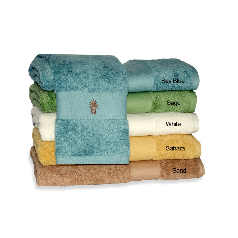 Tommy Bahama Pineapple Embroidered Towel Set From