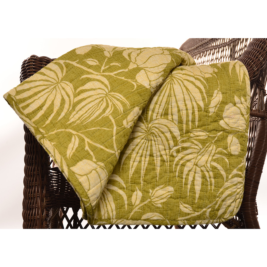 Tommy Bahama Plantation Floral Quilted Throw Blanket From