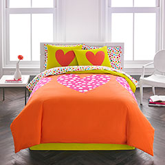 Polka Heart Comforter Set