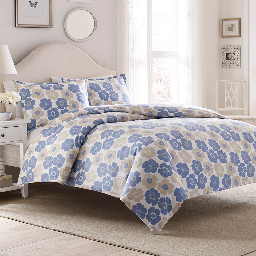 King Duvet Set Laura Ashley Poppy Bloom