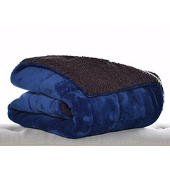 Premium Fleece Atlantic Blue Throw Blanket