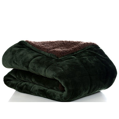Eddie Bauer Premium Fleece Dark Pine Throw Blanket