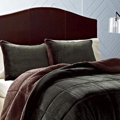 Eddie Bauer Premium Fleece Dark Pine Comforter Set From