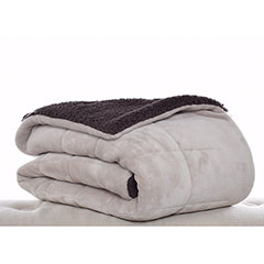 Premium Fleece Khaki Throw Blanket