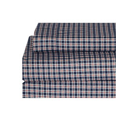 Prep School Plaid Flannel Sheet Set