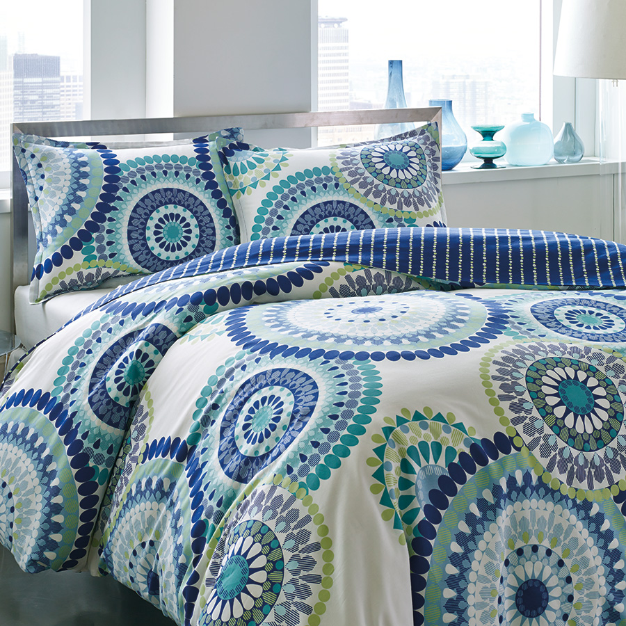 Full Queen Comforter Set City Scene Radius