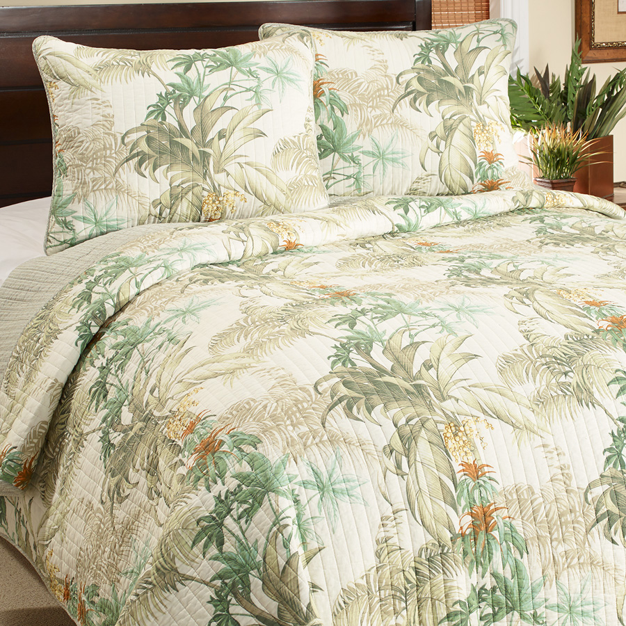 Tommy bahama rainforest tropical quilt set from Tommy bahama bedding
