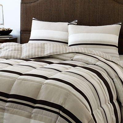 Eddie Bauer Redmond Stripe Down Alternative Comforter Set