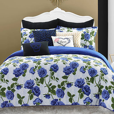 Betsey Johnson Regal Roses Comforter Set From