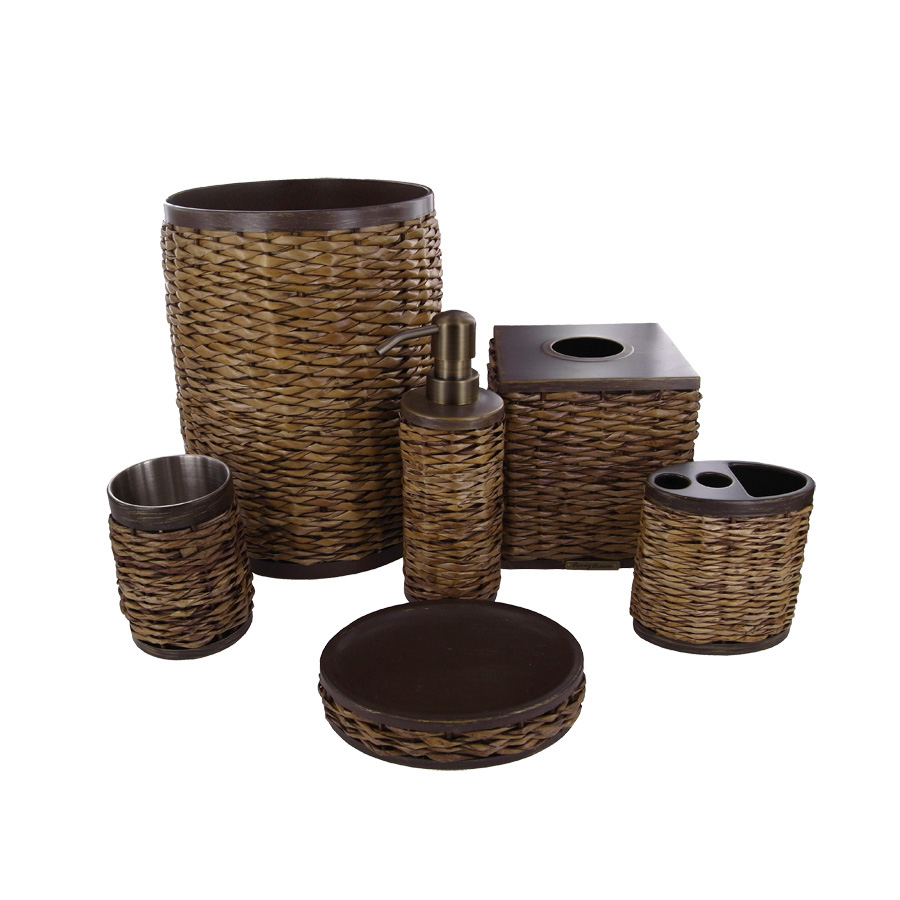 Beddingstyle tommy bahama retreat wicker bath accessories for Bathroom accessories images