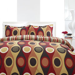 Retro Radar Camel Red Comforter and Duvet Cover Sets