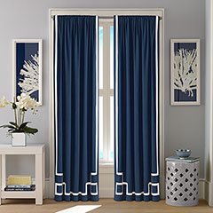 Nautica Ribbon Applique Captains Blue Window Treatment