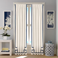 Nautica Ribbon Applique Deck White Window Treatment
