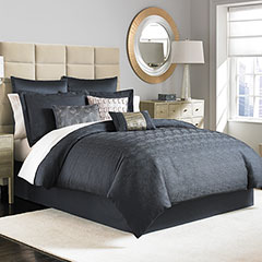 Manor Hill Ripple Ink Complete Bed Set