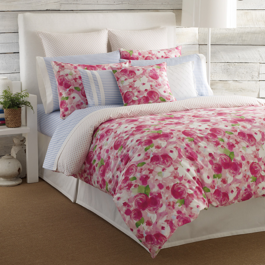Rose Patterned Bedding Blog Post