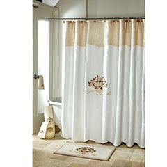 Avanti Rosefan Shower Curtain