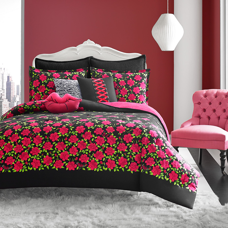 Betsey Johnson Rose Garden Comforter Set From