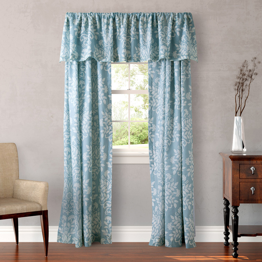 laura ashley rowland blue window treatment from. Black Bedroom Furniture Sets. Home Design Ideas