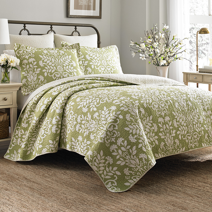 Twin Quilt Set Laura Ashley Rowland Sage