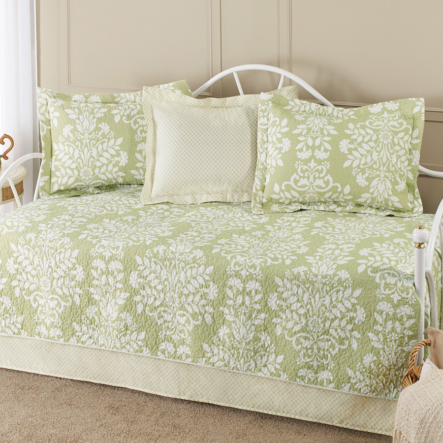Laura Ashley Rowland Green Daybed Bedding Set from Beddingstyle.com