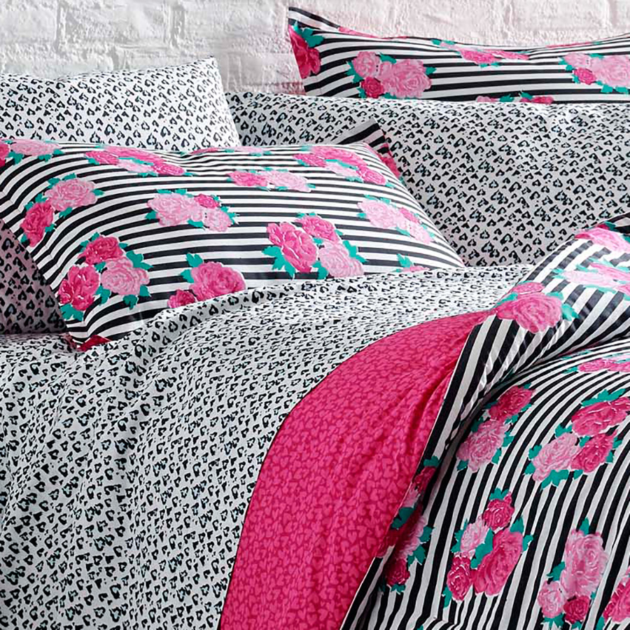 Betsey Johnson Royal Roses Comforter Set From