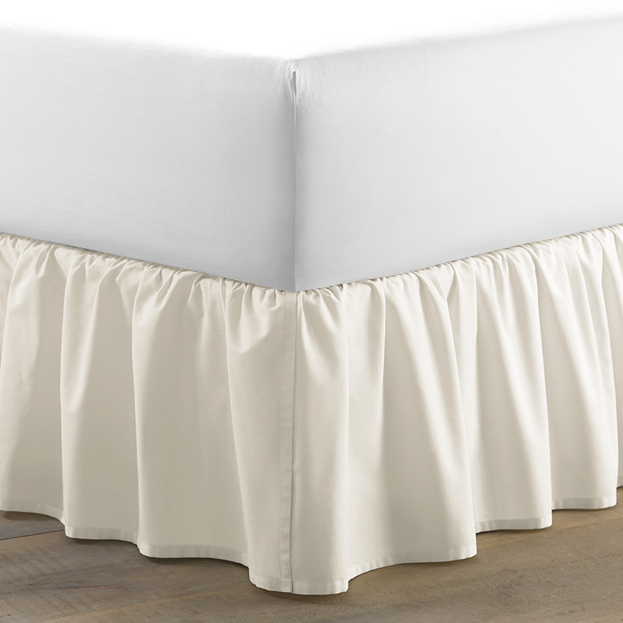 Laura Ashley Ruffle Ivory Cotton Bedskirt From Beddingstyle Com