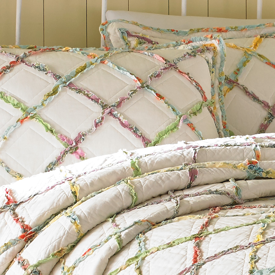 Laura Ashley Ruffle Quilt From