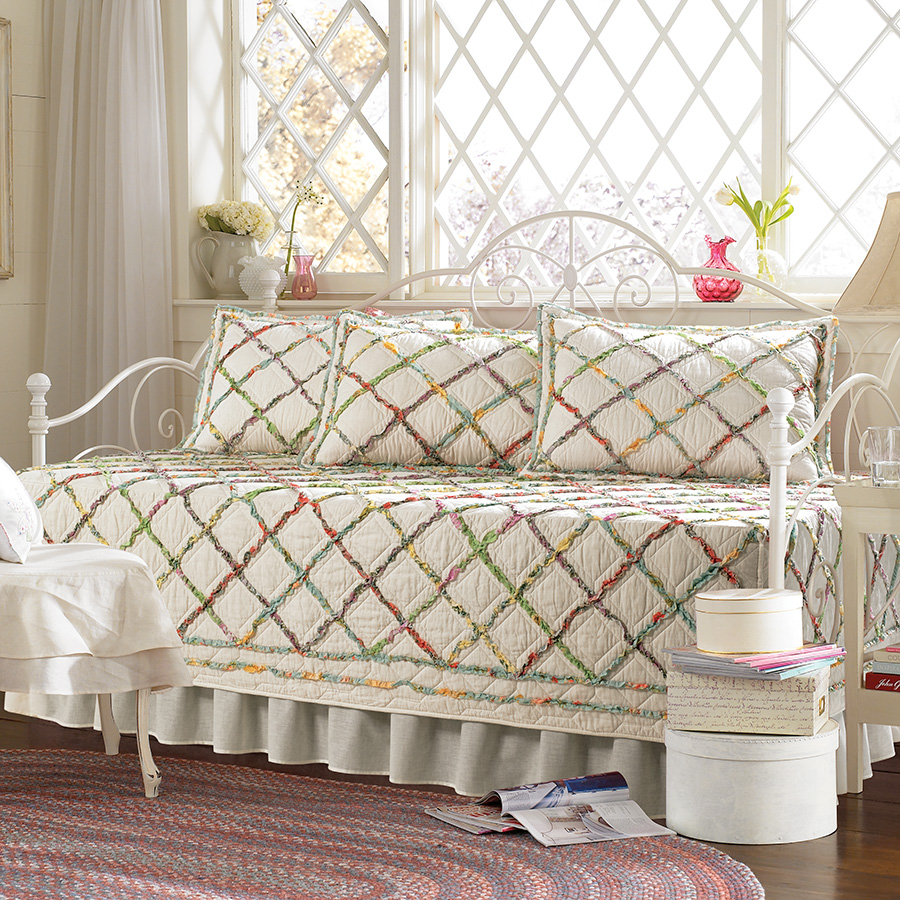 laura ashley ruffle garden daybed set from. Black Bedroom Furniture Sets. Home Design Ideas