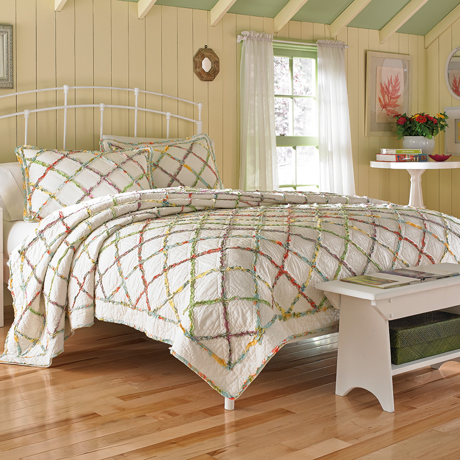 laura ashley ruffle quilt from. Black Bedroom Furniture Sets. Home Design Ideas