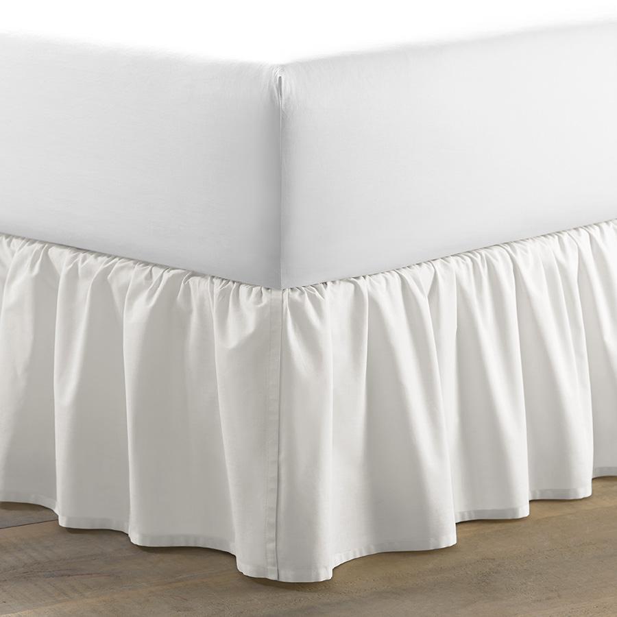 King Bedskirt Laura Ashley Ruffle White Cotton