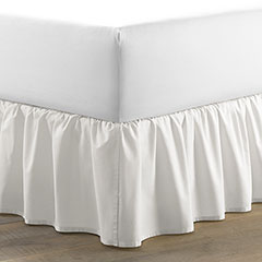 Laura Ashley Ruffle White Cotton Bedskirt