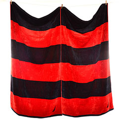 Rugby Stripe Beach Towel Set