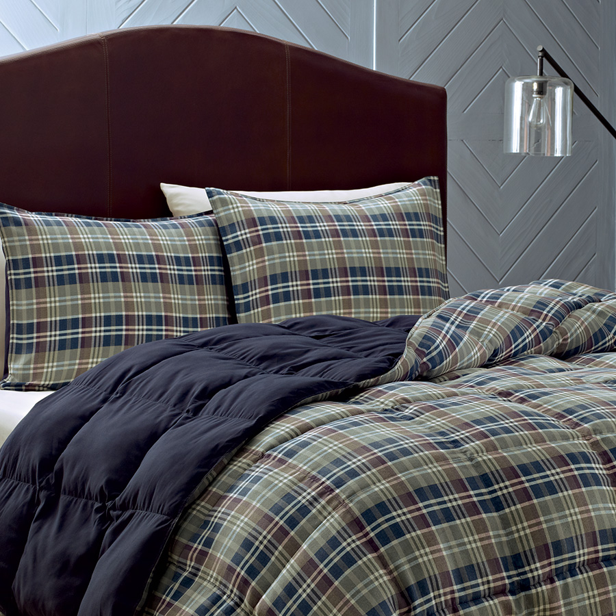 Full Queen Comforter Set Eddie Bauer Rugged Plaid