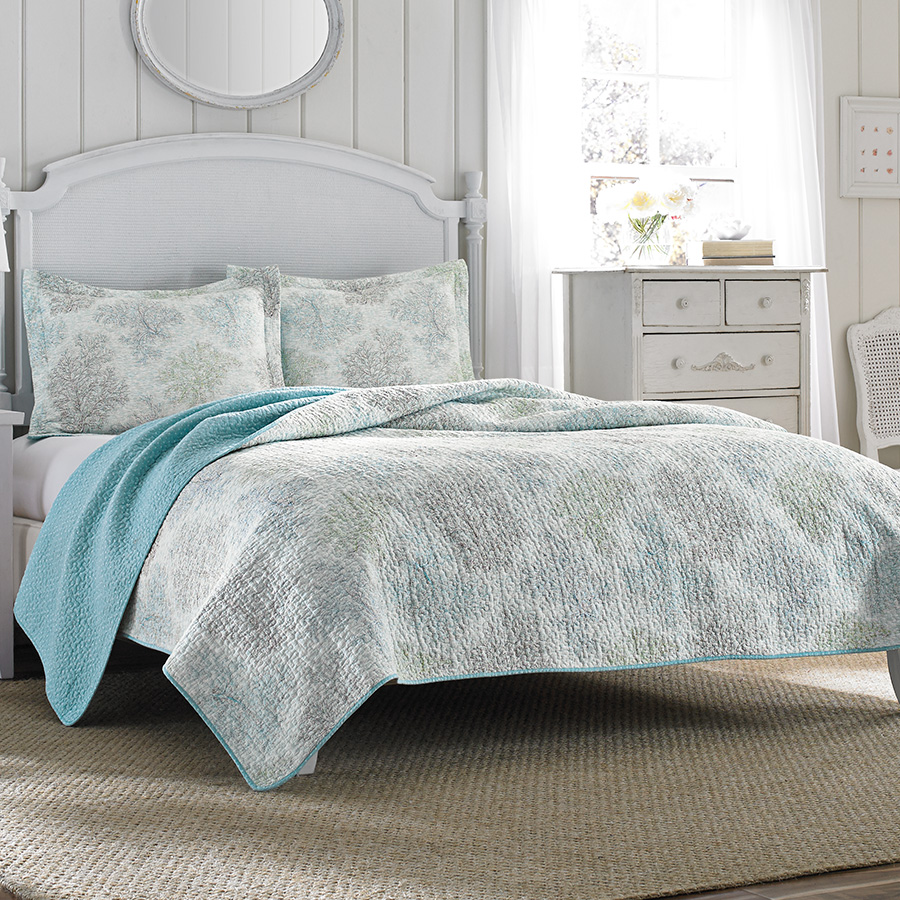 Laura Ashley Saltwater Quilt Set From Beddingstyle Com
