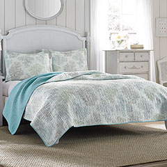 Laura Ashley Saltwater Quilt Set