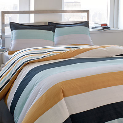 City Scene Sandbar Stripe Duvet Sets